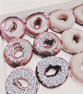pink, ? and donuts
