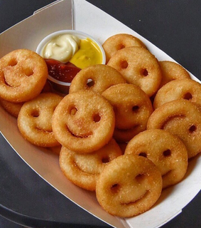 smile, food and yes