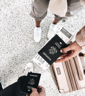 passport, travel and beauty