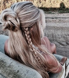 back, blonde and braided