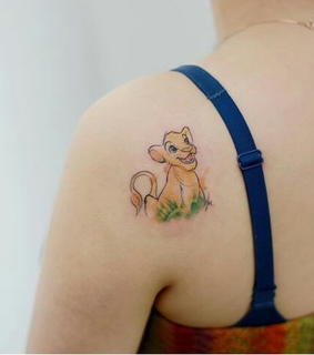 little, lion king and tattoed