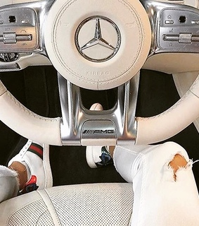 white, classy and german car