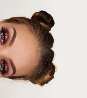 space buns, buns and cute