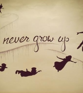 never grow up, quote and memory