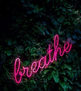 stop, neon and relax