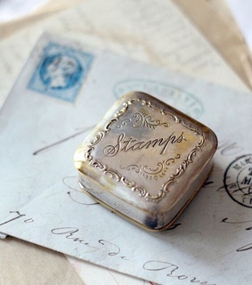 retro, victorian and stamps