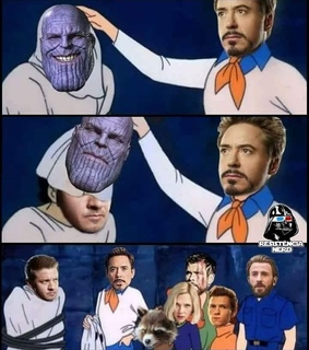 thanos, thor and steve rogers