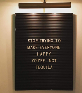 tequila, words and white