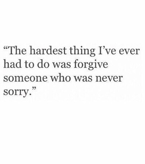 forgive, hard and words