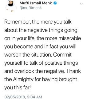 mufti menk, positivity and mufti
