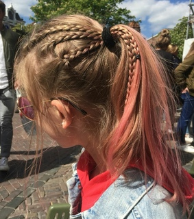 pink hair, the netherlands and red