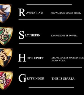hufflepuff, ravenclaw and knowledge