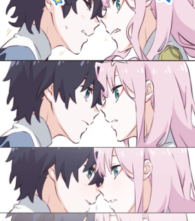 hiro, darling in the frankxx and pink hair
