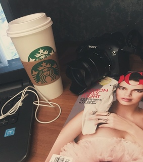 starbucks, vintage and april