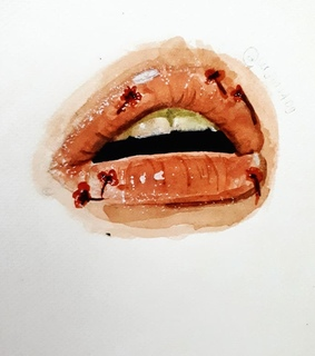 lip, drawing and aesthetic