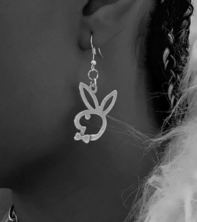 earring, silver and braids