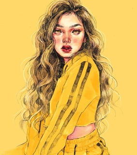 yellow, illustration and ig: 0073.uv