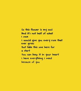poet, yellow and love