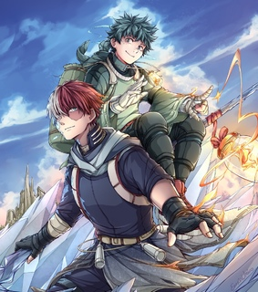 tododeku, izuku midoriya and todoroki shouto