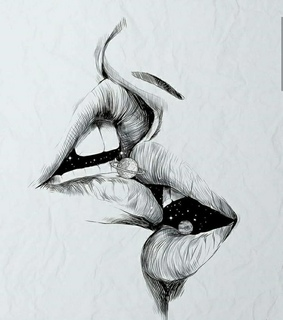 black and white, kiss and couple