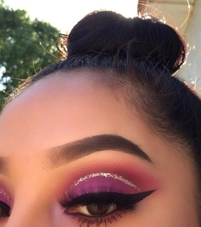 pink, cosmetics and eyebrows