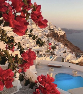 hotels, ocean and santorini