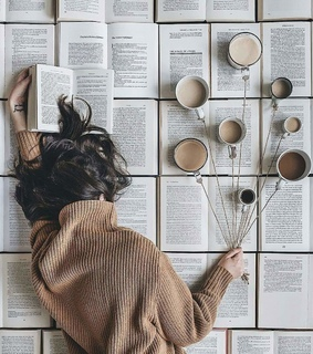 books, book and coffee