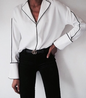 luxe, blouse and black