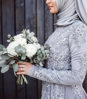 bride, muslim and engagement