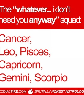 Leo, scorpio and sunsign