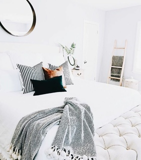 bedroom, bed and house