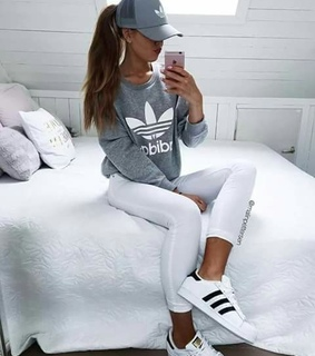 sport, grey and outfits