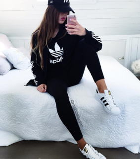 girls, outfits and adidas