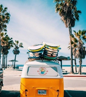 surf, summer and car