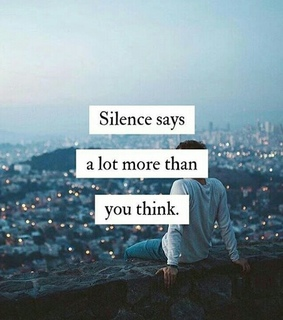sayings, silence and Relationship