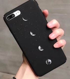 phone case, moon and white