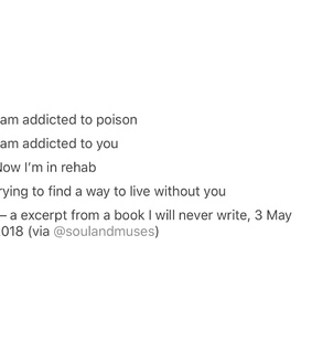 addicted, lost and poem