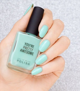 spring, tumblr and mint nails
