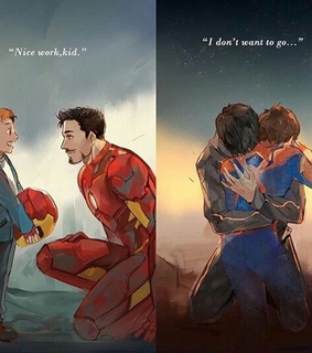 peter parker, son and iron man
