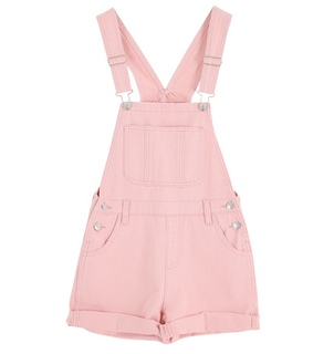 cute clothes, pink and pink overalls