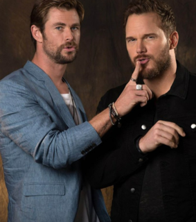 starlord, thor and chris hemsworth