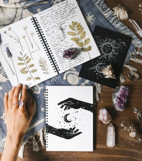 art, crystal and draw