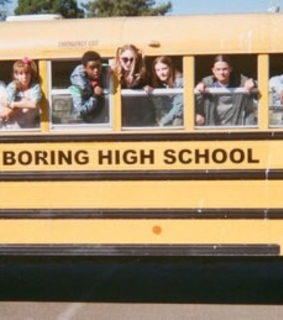 high school, bus and tumblr