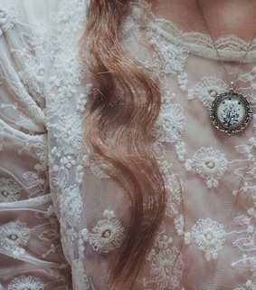 curly, lacey and vintage