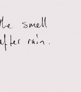 smell, quotes and rain