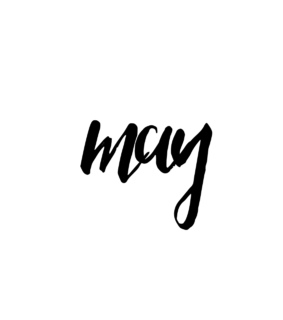 may, month and text
