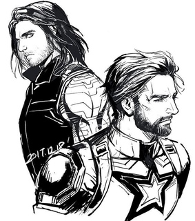 the winter soldier, long hair and speechless
