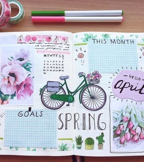 journal, colors and planner