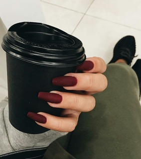 fashionably, nails and coffee