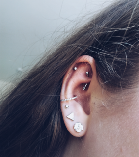 rook piercing, jewerly and Piercings